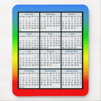 Colourful Mouse-pad Calendar for 2016 Mouse Pad