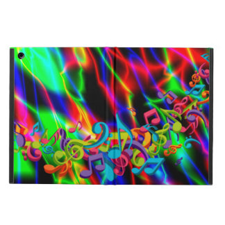colourful music notes neon bright background color iPad air case