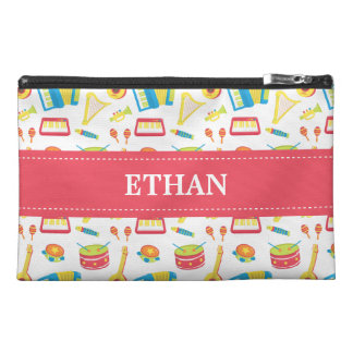 Colourful Musical Instruments Pattern For Kids Travel Accessory Bags