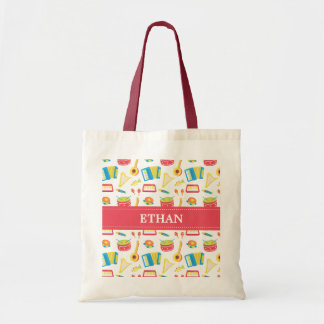 Colourful Musical Instruments Pattern For Kids Budget Tote Bag