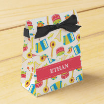 Colourful Musical Instruments Pattern For Kids Favor Box