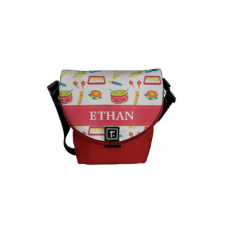 Colourful Musical Instruments Pattern For Kids Courier Bags