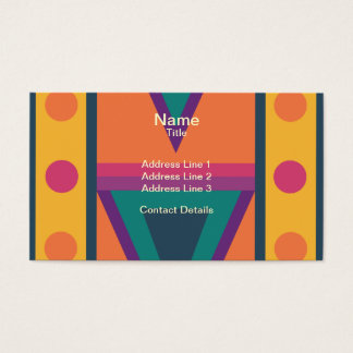Colourful Native American Style Pattern Business Card