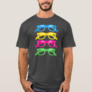 Colourful Nerd's Spectacles T-Shirt