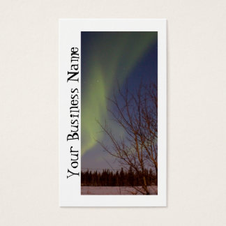 Colourful Northern Sky; Promotional Business Card