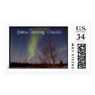 Colourful Northern Sky; Yukon Territory Souvenir Postage