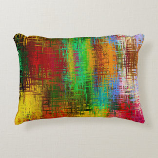 Colourful one decorative pillow