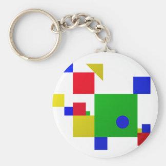 Colourful one keychain