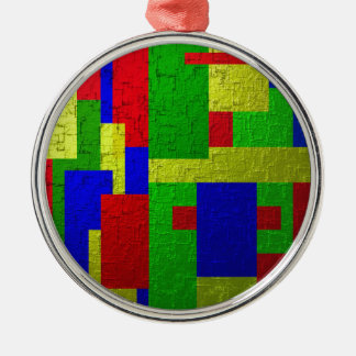 Colourful one metal ornament