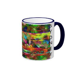 colourful opera house, SYDNEY Ringer Mug