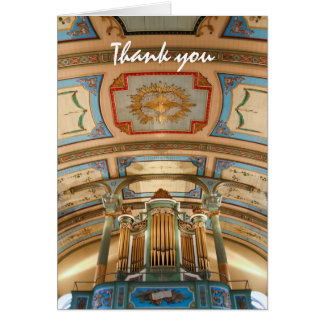 Colourful organ  thank you card
