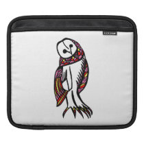 Colourful Owl (black, yellow, red, pink) iPad Sleeve