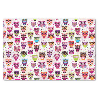"""Colourful Owl Pattern For Kids 2 10"""" X 15"""" Tissue Paper"""