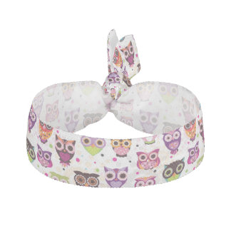 Colourful Owl Pattern For Kids 2 Elastic Hair Tie