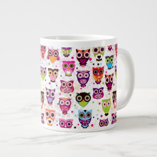 Colourful Owl Pattern For Kids 2 Giant Coffee Mug