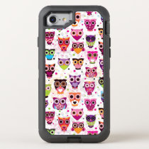 Colourful Owl Pattern For Kids 2 OtterBox Defender iPhone 7 Case