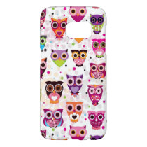 Colourful Owl Pattern For Kids 2 Samsung Galaxy S7 Case