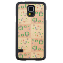 Colourful Owl Pattern For Kids Carved Maple Galaxy S5 Case