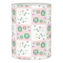 Colourful Owl Pattern For Kids Flameless Candle
