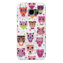 Colourful Owl Pattern For Kids Samsung Galaxy S6 Case