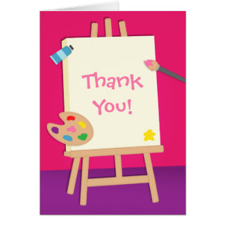 Colourful Painting Arts Thank You Greeting Card