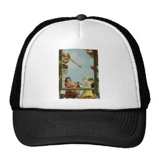 Colourful painting mesh hat