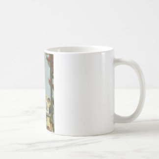 Colourful painting mugs