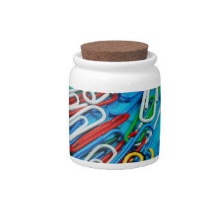 Colourful paperclip print candy dishes