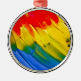 Colourful parrot wing metal ornament