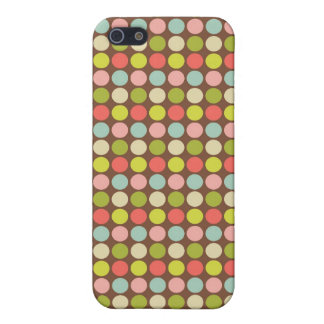 Colourful Pastel Polka Dots Pattern iPhone4 Case