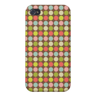 Colourful Pastel Polka Dots Pern  Cover For iPhone 4