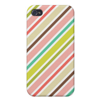 Colourful Pastel Stripes Pattern iPhone4 Case