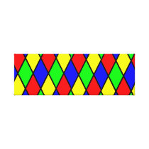 Colourful pattern canvas print