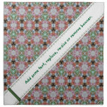 Colourful Patterned Cloth Napkin wit Banner