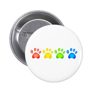 Colourful Paws 2 Inch Round Button