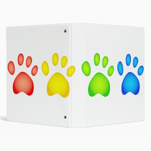 Colourful Paws Binder