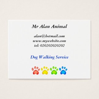 Colourful Paws, Business Card