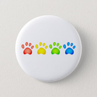 Colourful Paws Button
