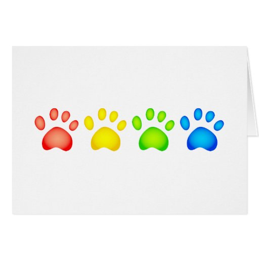 Colourful Paws Card