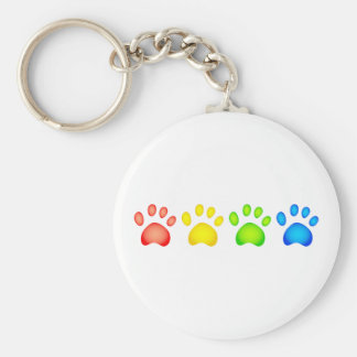Colourful Paws Keychain