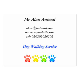 Colourful Paws, Large Business Card