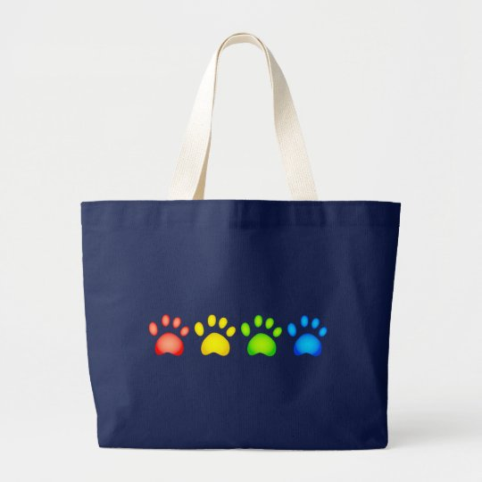 Colourful Paws Large Tote Bag