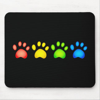 Colourful Paws Mouse Pad