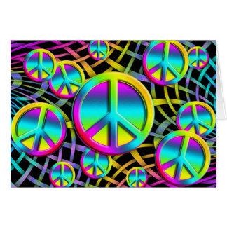colourful PEACE Card