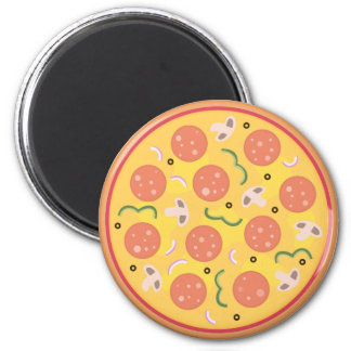Colourful Pepperoni For Pizza Lovers Magnet