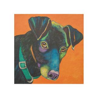 "Colourful Pet Portrait of ""Cooper"" Wood Wall Decor"