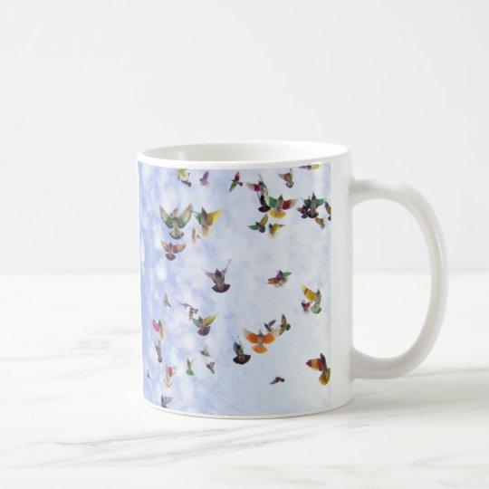Colourful Pigeons Coffee Mug