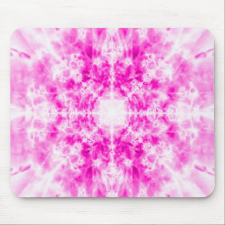 Colourful pink kaleidoscope pattern mouse pad