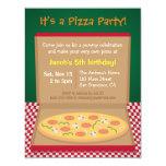 Colourful Pizza Kids Birthday Party 4.25x5.5 Paper Invitation Card