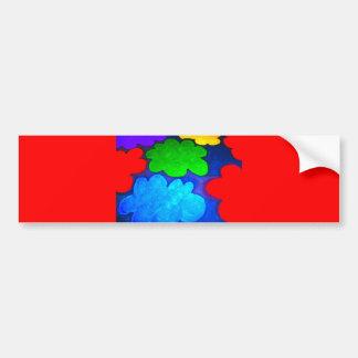 Colourful Popcorn Clouds Bumper Stickers